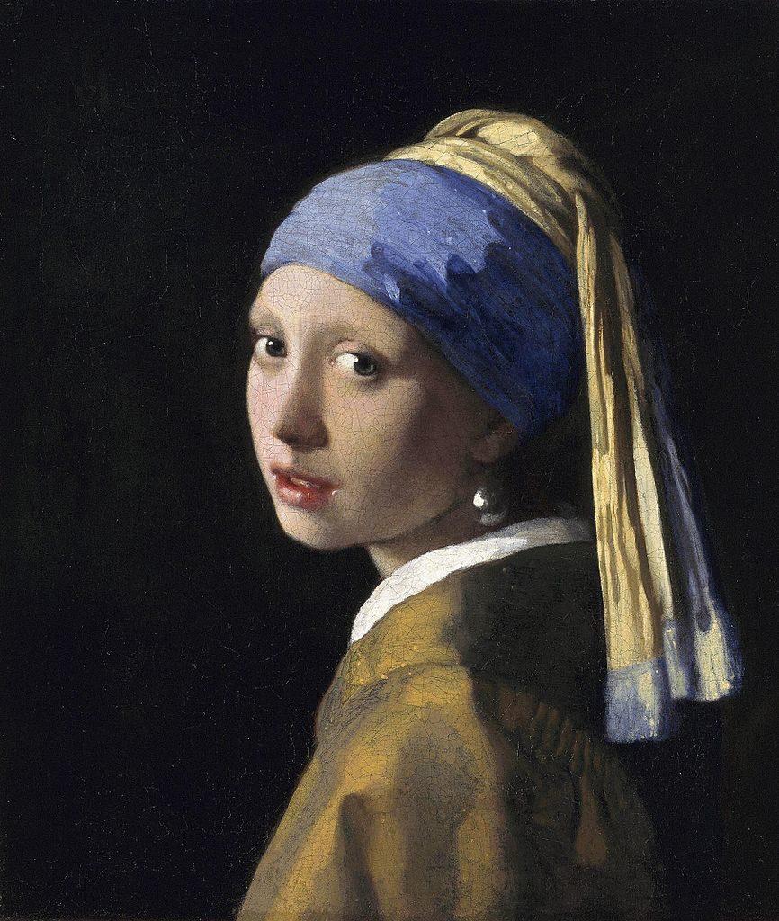 Chica con un pendiente de perlas - Johannes Vermeer