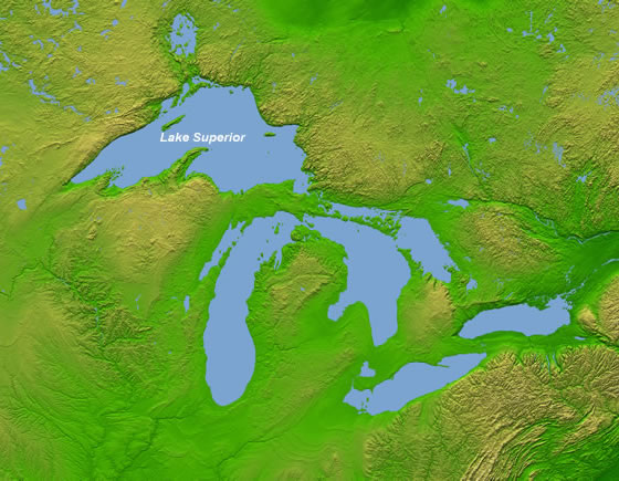 lago superior mapa