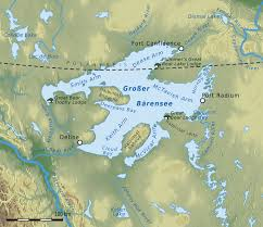 mapa de lago del gran oso