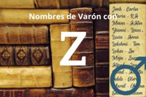 nombres de varon con Z