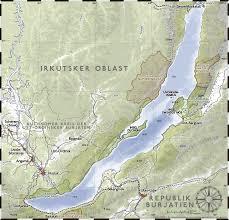 mapa del lago baikal