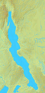 mapa del lago tanganica