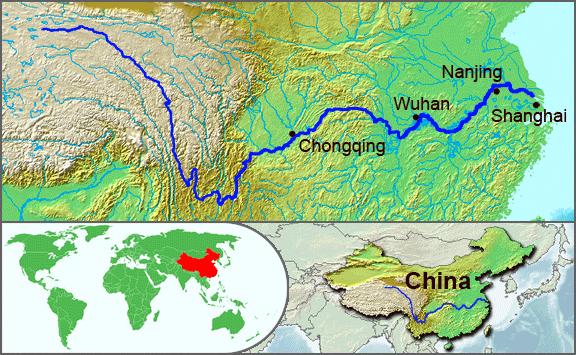 mapa del rio yangtse